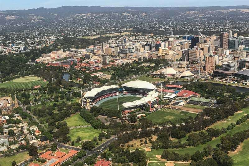 Aerial view of Adelaide Oval